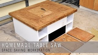 Homemade Table Saw Workstation, Router, Jigsaw and Downdraft Review