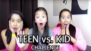 Teen vs Kid Challenge! | CaleonTwins