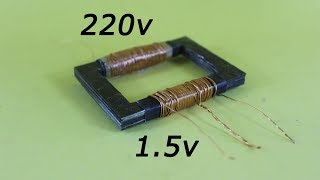 How to make 1.5v to 220v generator at home