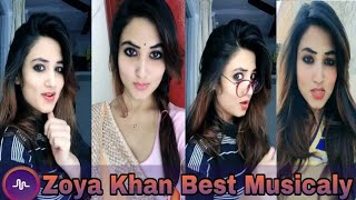 Zoya Khan Best 2018 Musicaly Video 🌟 India Musically Compilation🌟.