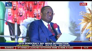 Ebonyi State Governor Holds Democracy Day Executive Media Chat Pt.9