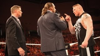 Brock Lesnar attacks Triple H: Raw, April 30, 2012