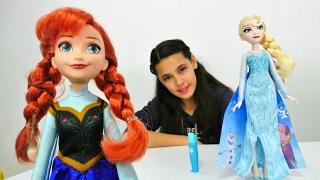 Karlar ülkesi Elsa ve Anna oyuncakları tanıtıyoruz. Elbise boyama oyunu. #Kızoyunları