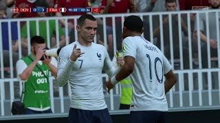 2018 FIFA World Cup Russia - Denmark vs France (Full Gameplay)