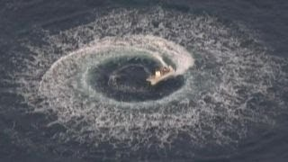 Unmanned boat spins in Half Moon Bay