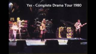 YES  - COMPLETE DRAMA TOUR 1980