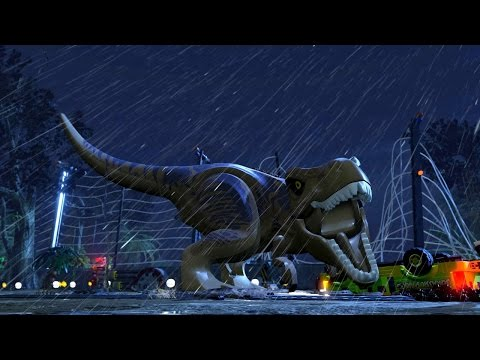 LEGO Jurassic World T-Rex Trailer