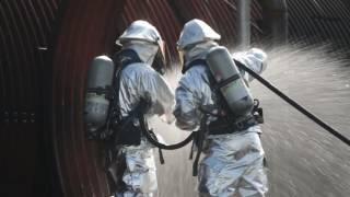 U.S. Marine Aircraft Rescue and Firefighting (ARFF) training