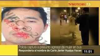 Policía captura a sospechoso de quemar a mujer en bus en Miraflores