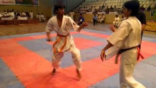 wajid khan fight all pakistan kyokushan karate