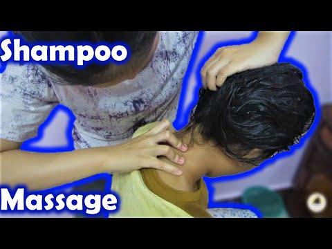 ASMR Relaxing Head Massage - Sister Meets Cousin