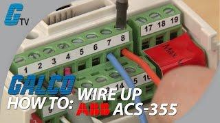 How to Wire Up I/O on ABB ACS-355 AC Drive for ABB Standard Macro