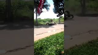 Crash kls bbk 4tak 130cc MP4 kejurda seri 1 Lampung 2018