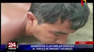 Comas: desbaratan clan familiar dedicado al tráfico de drogas y sicariato