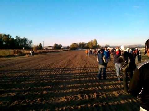 Carrera de la alazana la Maruflys de rancho la maroma en Yakima WA.
