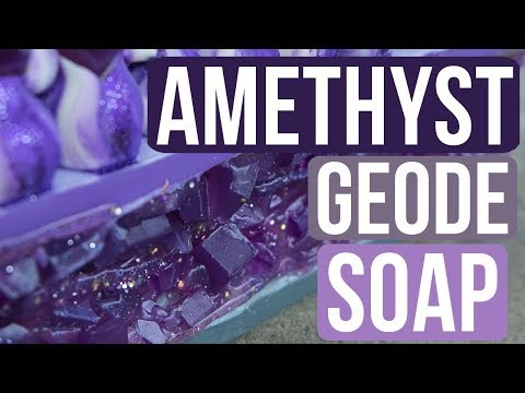 Amethyst Geode Soap Royalty Soaps