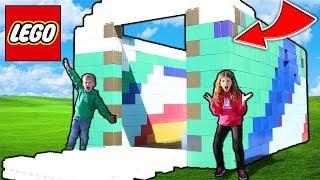 BUILDING WORLDS BIGGEST LEGO HOUSE! IT'S HUGE!