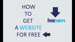 How to get a Website for free and design it ( Using Freenom )