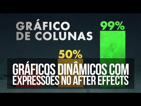 After Effects Como criar gráficos de coluna dinâmicos.