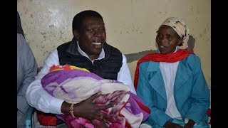 KCPE candidate seats for her national examinations hours after giving birth