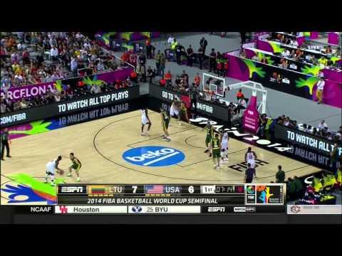 watch Fiba 2014 World Cup Semifinals USA - Lithuania Q1 HD