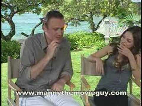 JASON SEGEL AND MILA KUNIS TALK ABOUT THE