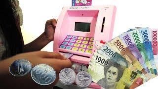 Mainan Mesin ATM nabung dan ambil uang beneran | Mainan anak