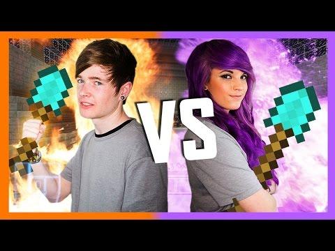 DanTDM v AshleyMarieeGaming Round 2 Minecraft 1v1 Legends of Gaming