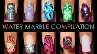 Nail Art Compilation | Water Marble March 2013