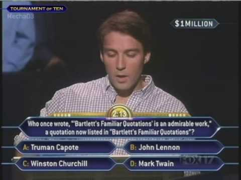 Tim Janus Million Dollar Question Who Wants to be a Millionaire Old Format