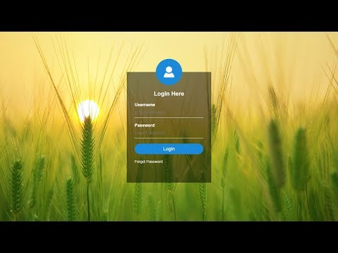 Xxx Mp4 How To Create Transparent Login Form Using HTML And CSS HTML Form 3gp Sex