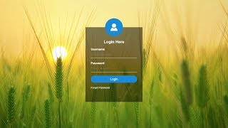 How To Create Transparent Login Form Using HTML and CSS | HTML Form