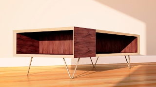 DIY Modern Coffee Table with Two Tools - Woodworking