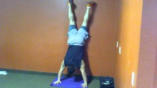 Handstand push up attempts