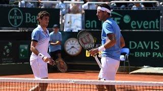 Highlights: Fognini/Lorenzi (ITA) v Del Potro/Pella