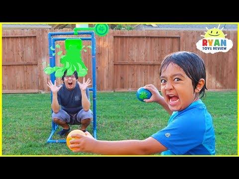 Splash Dunk Tank Challenge Family Fun Activities with Ryan ToysReview