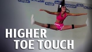 How to get a Higher Toe Touch For Cheerleading | Kinetic Bands