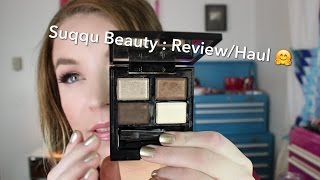 Suqqu Beauty : Review/Haul : Blend Color Eyeshadow Quads & Brushes