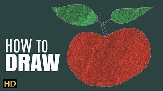 How To Draw An Apple | Step by Step Drawing Tutorial Video | Shemaroo Kids