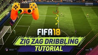 FIFA 18 NEW UNIQUE ZIG ZAG DRIBBLING TECHNIQUE TUTORIAL - HOW TO DRIBBLE in FIFA 18 ULTIMATE TEAM