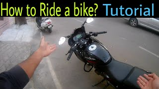 How to ride a bike/Motorcycle   Easiest way and tips   BRS tutorial
