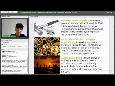 watch Webinarium - Przedsiębiorczość, w tym przedsiębiorczość społeczna (BORIS)