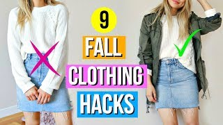 9 Fall Clothing Hacks EVERY Girl Must Know!