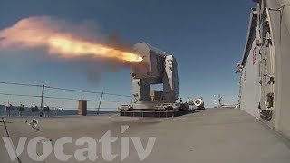 Navy Warship Test-Fires Defensive Missiles