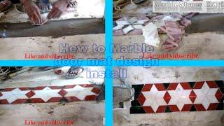 Marble flooring door mat design in India work