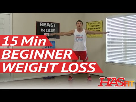 15 Min Beginner Workout for Weight Loss - HASfit Easy Exercises to Lose Belly Fat - Easy Workouts