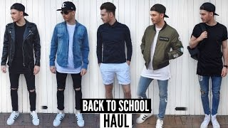 Back To School Mens Fashion Haul   Lookbook 2016 / 2017
