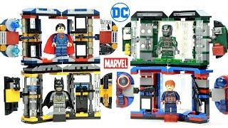 Batman Iron Man Superman & Captain America Armory Tech Gear Capsule Unofficial LEGO Knockoff Set