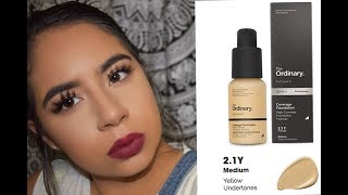 THE ORDINARY COLOURS | COVERAGE FOUNDATION | Oily/rosacea skin Demo&Review