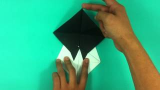 Hacer un oso panda de origami - Osito de papel